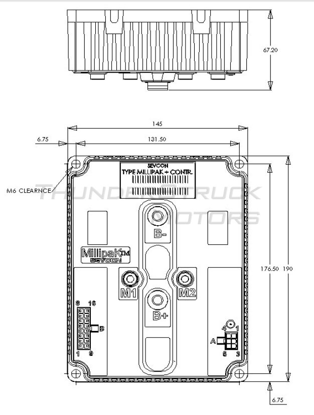 thunderstruck motors sevcon millipak pmac